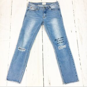 Hudson Distressed Denim Jeans